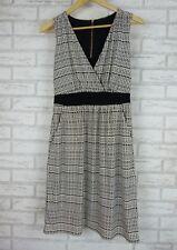 ESPRIT Stretch Dress Sz XS, 8 Black, White Stripe Exposed Zip
