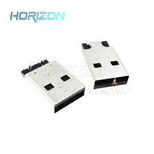 20PCS USB 2.0 4PIN A Type Male Plug Connector USB Jack 180° Sink SMT SMD US