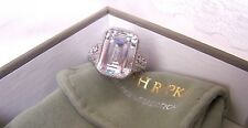 Judith Ripka 925 SS BOLD Emerald Cut CZ  925    Size 8  New With Tags.