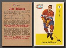 Jean Beliveau #6, Reprint 1959-60 Parkhurst, Montreal Canadiens, mint condition