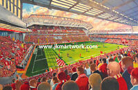 Anfield Stadium Fine Art A4 Print - Liverpool Football Club