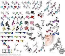 Tragus Bars Small Helix Crystal Earring  Ear Cartilage Body Piercing Jewellery