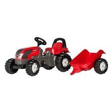 Rolly Toys Valtra mit Anhänger Traktor Trettraktor ohne Frontlader rot