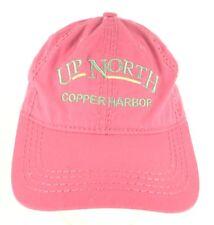 Up North Copper Harbor Michigan Snapback Cap Hat Pink