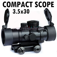 Compact Scope 3.5X30 Illuminated Red+Green+Blue Riflescope Shockproof 20mm Rail