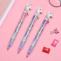 2/5PCS Chunky Stationery Unicorn Ballpoint Writing Tool 6 Colors Ink Gel Pen