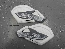 Team Arctic Cat Snowmobile White & Grey Sno Pro Hand Guards Wind Guards 6639-382