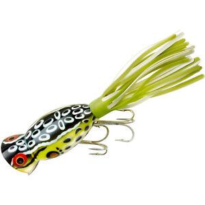 Arbogast Hula Popper 5/8 oz Fishing Lure - Cricket Frog