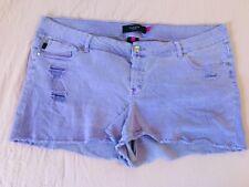 Torrid Women's Purple Denim Shorts Size 24
