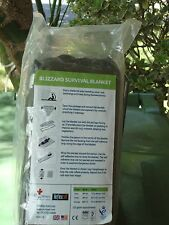 BLIZZARD SURVIVAL BLANKET- NSN 6515-01-5246932- GREEN SEALED NEW- FREE SHIP