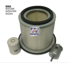 WESFIL NISSAN PATROL 97-01 GU TBSY61 4.5L AIR OIL FUEL FILTER SERVICE KIT