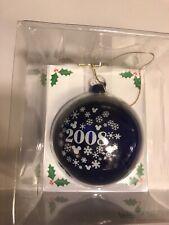 NEW Disney Mickey's Very Merry Christmas Party 2008 Mickey Ornament Ball NOS G1