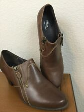 Spring Step Wyette Womens Brown Leather Ankle Boots Heels Sz US 9 EU 40 Free Shp