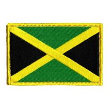 Country Flag Of Jamaica Embroidered Iron On Badge Applique Patch FD