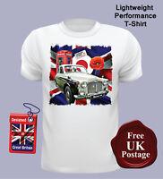 Rover P4 Men's T Shirt, Rover P4, Union Jack, T Shirt, Mod Target, Poppy,