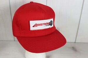 Vintage 1980's Armstrong Tires Mechanics Baseball Trucker Cap Hat Foam Snapback