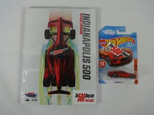 New 2018 Indy 500 INDYCAR GP Program & Hot Wheel Indy Festival Car Camaro SS