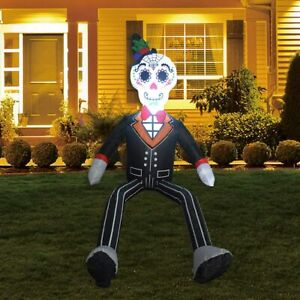 Halloween Inflatables Gentleman Ghost Below Up Yard Decoration Clearance 4 FT