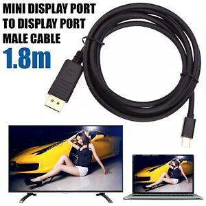 HighQuality Mini DP Display Port DisplayPort to DisplayPort Male Cable Lead 1.8M