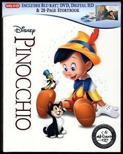 Pinocchio (2017 Target Like New Region Free Disney Signature Blu-ray StoryBook)