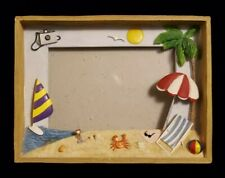 Picture Frame Beach Dreams Scene Vacation 4x6 Ceramic and Wood Get Away Dream
