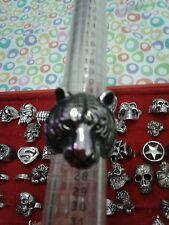 ANELLO Tigre acciaio misura 25 trendy bellissimo anello con  ring skull