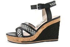 French Connection LATA Fashion Wedge Women's Sandal,Blk/Wht,New,8.5US.0449