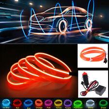 3m EL Wire Car Auto Interior Styling Moulding Trim LED Strip DIY Party Home Line