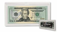 LOTOF 2 BCW REGULAR BILL CURRENCY SLAB 2 PIECE SNAP HOLDER ,ACRYLIC  CLEAR CASE
