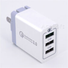 3-Port USB Travel Wall Charger Power Adapter for ZTE ZPAD K90U Tablet