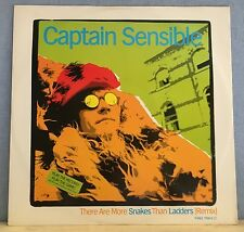 """CAPTAIN SENSIBLE There Are More Snakes Than Ladders 1984 UK 12"""" Vinyl single EXC"""