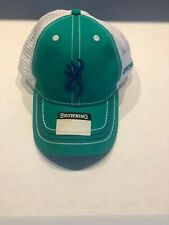 Browning  Green White Mesh SnapBack Adjustable Baseball Hat