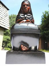 Bolivia Hand Carving Wood Statue Sculpture  Mother With Child. Sout America art