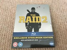 The Raid 2 - Blu-Ray Steelbook - Brand New & Sealed - Dent to side