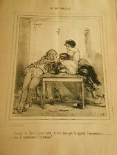 Litho 1849 Bal Masqué Tu vois bien que le cigarre l'incommode
