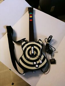 PlayStation 2 Guitar Hero PSLGH RedOctane Wired Controller Zakk Wylde Bullseye