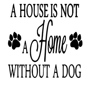 A House Is Not A Home Dog Decal vinyl sticker Ikea Ribba Box Frame DIY Gift