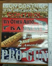 "Pack of 12 Auto/Car/Truck Magnet-Gun rights-11.5"" By 3.5"""
