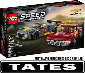LEGO 76903 Chevrolet Corvette C8.R Race Car and 1968 Chevrolet Corvette - Spe...