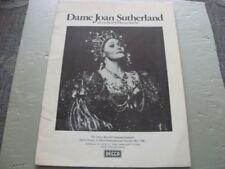 Decca Dame Joan Sutherland Catalogue    1980