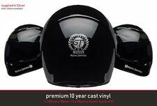 ROYAL ENFIELD GT 650 Premium Helmet Kit 10 Year Cast Vinyl Decals Stickers x3