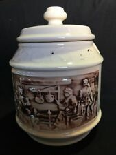 Vintage McCoy Early American Frontier Family Cookie Jar Double Sided Imprint USA