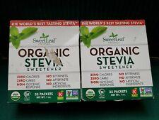 SweetLeaf Organics  Stevia Sweetener - Organic Stevia 35 packets each.(2 packs)