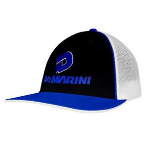 DeMarini Stacked D Baseball/Softball Trucker Hat - Black/Royal/White - S/M