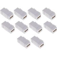 10xHDMI Female to Female Keystone Jack Support HDMI 4k Ultra HD 1080P AV