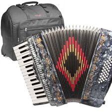 Rossetti, 3032, GREY Piano Accordion 32 Bass, 30 Key, 3 Switch, Gig Bag & Straps