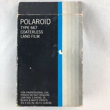Vintage POLAROID 3000 ASA Type 667 B&W Coaterless Land Film 16 Prints Ex 5/82