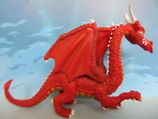 FIGURINE COLLECTION PLASTOY CHEVALIER CHEVAL MOYEN AGE KGNIGHT DRAGON ROUGE -109