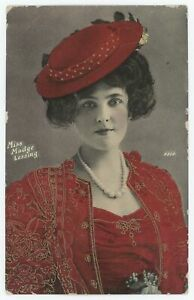 Stage & Film Actress Madge Lessing Photo Postcard