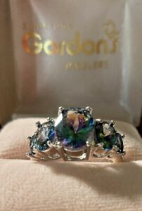 Estate 9ct. Oval Alexandrite Band Ring